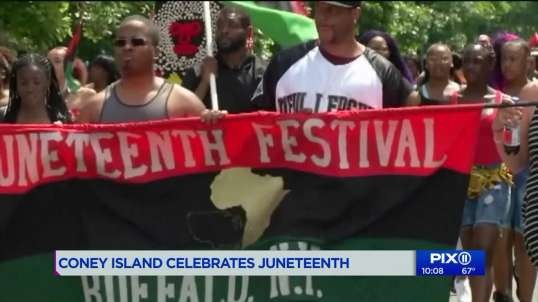 Coney Island celebrates Juneteenth as lawmakers debate for reparations for slavery