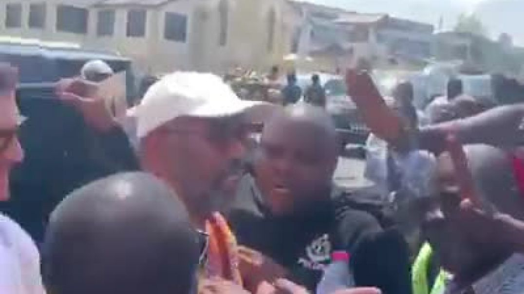 Welcome Home Soldier. Celebrity Steve Harvey Gets A Welcome Home From Locals In Ghana.