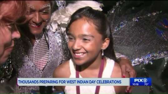 Revelers and police prepare for J`ouvert, West Indian Day Parade in Brooklyn
