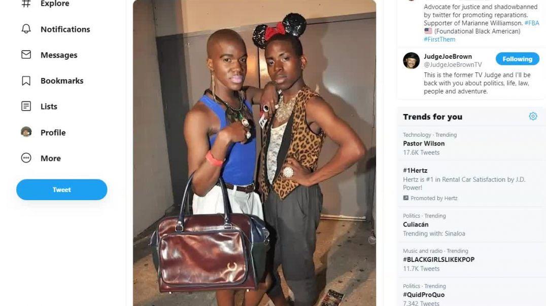 Unreal and Sillty Porter support Black Male Feminization.mp4