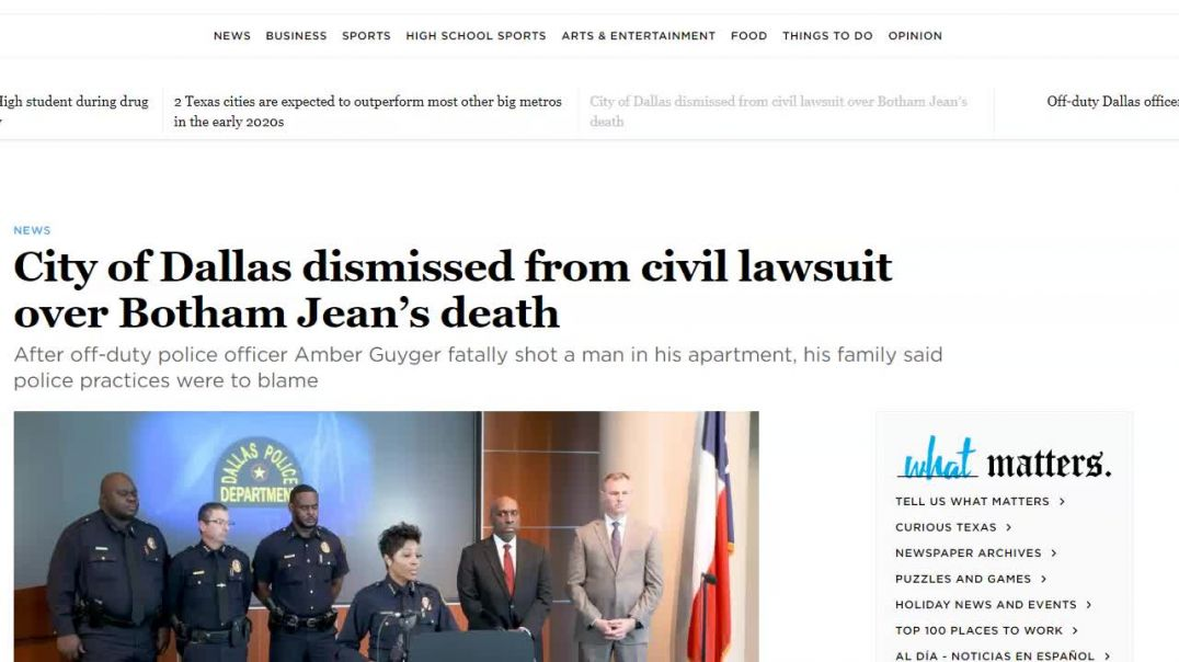 Dallas dismissed from Lawsuit involving Bothsm Jean's death.mp4