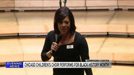 Chicago Children`s Choir performs for Black History Month