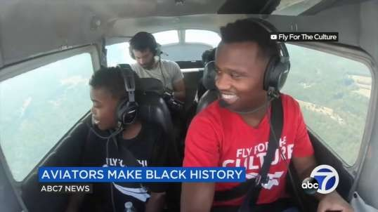 Black aviators encourage students to 'reach for the skies' for Black History Month: