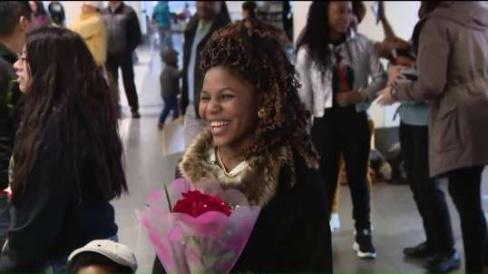 Refugee family from Tanzania reunites at Airport after 3 years apart