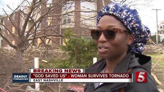 'I'm grateful that I'm alive.' East Nashville woman escapes death from Tornado