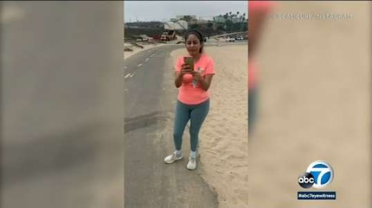 Latin type Female launches racist rant toward 3 Women at  Beach