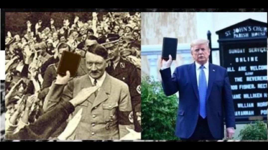 Trump Raised Bible of White Facism