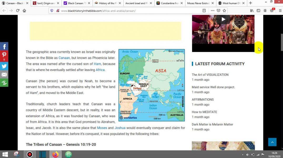Canaan, Phoenicia, Israel is 100% AFRICA